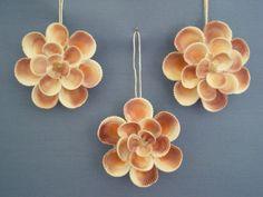 Sea Shell Floret Ornament / Set of 3 by judystephenson on Etsy, $29.00