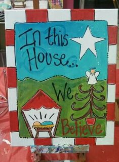New Diy Christmas Canvas Crafts Ideas Christmas Signs, Christmas Art, Christmas Projects, Winter Christmas, Holiday Crafts, Holiday Fun, Christmas Decorations, Christmas Ornaments, Christmas Pictures