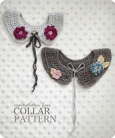 Crochetlatte  Free Flower Girl Collar Pattern