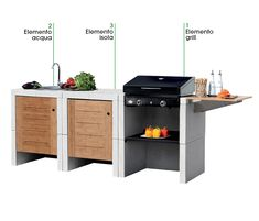 Melody 3 Grill - Sunday Grills, Barbecue, MCZ Garden Build Outdoor Kitchen, Kitchen Cart, Barbecue, Grilling, Product Design, Sunday, Garden, Home Decor, Barbacoa