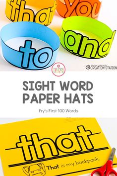 Your new readers will love showing off their sight word hats! A great way to practice reading weekly sight words! Use them with games or small group instruction. #sightwords #kindergarten #firstgrade #phonics Kindergarten Homeschool Curriculum, Kindergarten Literacy, Early Literacy, Homeschooling, Sight Word Sentences, Teaching Sight Words, Dolch Sight Words, Reading Centers, Reading Skills
