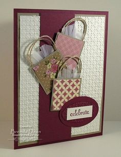 card. bags and embossing by shauna