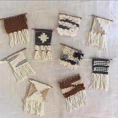 wild columbine mini weavings