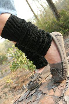 Tobillos abrigados en crochet
