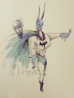 Batman art by Tim Burton Tim Burton Art Style, Tim Burton Johnny Depp, All Superheroes, Fantastic Art, Awesome, Dark And Twisted, Batman Art, Comic Covers, Comic Books Art
