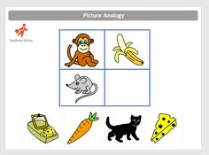 Read about what types of questions appear in the OLSAT Pictorial Reasoning section, such as Picture Series and Picture Analogies. Logic Games For Kids, Fun Worksheets For Kids, Educational Games For Kids, Preschool Writing, Preschool Learning, Preschool Activities, Best Brain Teasers, Test For Kids, Preschool Pictures