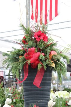 outdoor christmas planter - Outdoor Christmas Decorations Nj