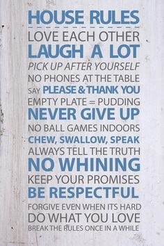 House Rules Vinyl Wall Sticker #Vinylimpression