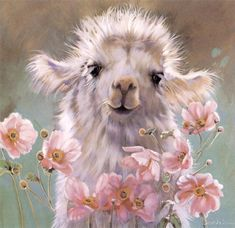 This is Cria. This is a painting by Nancy Noel. This is my very favorite of all her beautiful baby animals. She is awesome!