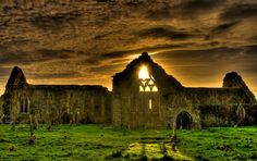 I can feel the history enveloping me from here and feel at home - Celtic ruins listed as Domenican Priory, Athenry, Ireland