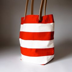 Red & White Tote