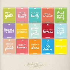 Haha! So good! Southern Sayings: Pick 3 - 11 x 14 Sweet Southern Charm Prints. $44.00, via Etsy.