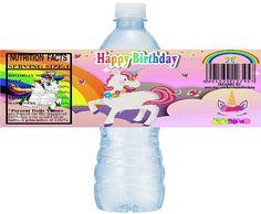 UNICORN Water Bottle Labels instant download, DIY Printable Unicorn Party Water Bottle Label, Unicorn Water label, Unicorn Birthday Stickers
