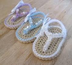 Risultati immagini per sandal crochet baby