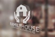 Family Home Logo by Josuf Media on Creative Market Badge Template, Logo Templates, Initials Logo, Monogram Logo, Typography Logo, Logo Branding, Custom Logo Design, Custom Logos, Real Estate Company Names