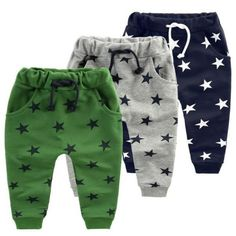 Perfect trousers for the little one - These Star Pattern Fashion Trousers are the perfect set of trousers that your child deserves. - High Quality: Cotton - Pattern Type: Geometric - Pant Style: Harem Pants - Closure Type: Elastic Waist - Available Colors: 4 Measurements Size Length Height 12M 45 cm 70 cm 18M 48 cm 80 cm 2T 52 cm 90 cm 3T 56 cm 100 cm 4T 60 cm 110 cm 6T 63 cm 120 cm