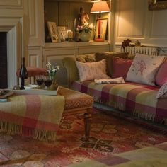 Lovely fabrics, colors and textures throughout the room.                                                                                                                                                                                 More
