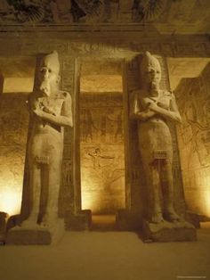 Photographic Print: Interior of Two Statues at the Temple of Ramses II in Abu Simbel, Egypt by Richard Nowitz : 12x9in