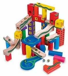 Marble Runaround Marble and Blocks Building Set by Marble Run. $34.98. Brightly colored. For Ages 4 and Up. Build incredible mazes. Set includes 45 blocks and 1marbles. Two proven kid-pleasers (marbles and blocks) combine to keep active children happily occupied for hours. Build towering structures with the hardwood blocks, then release marbles at the top and watch 'em roll! Tip: for truly amazing mazes, start with our exclusive spiral end cup and build backwards. The...