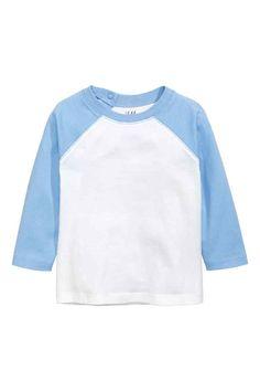 Long-sleeved T-shirt - Light blue - Kids | H&M 1