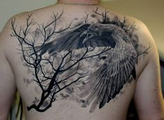raven and celtic moon tattoo - Google Search