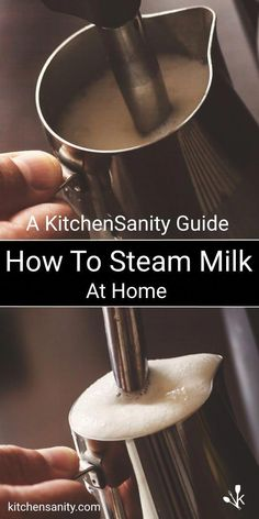 Simple instructions for How To Steam Milk at home! #coffee #espresso #latteart #espressocoffee
