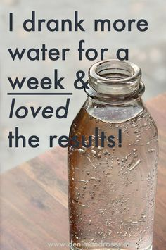 I Challenged Myself To Drink More Water In A Week And The Results Are Amazing! Get clear skin, lose weight, and detox just by drinking more water and eating a healthier diet!