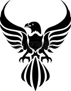tribal tattoo of an eagle
