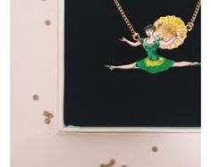 Red Bird Makes - Acrobat Umbrella Girl Necklace / £18