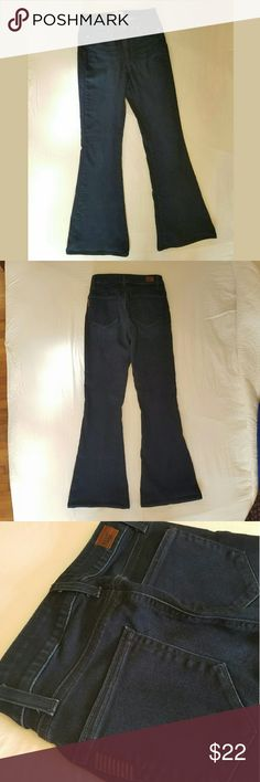 "*MOVIBG SALE* Paige ""Bell Canyon"" High Rise Jeans Paige ""Bell Canyon"" dark wash, high rise denim jeans. Size 27, 31"" inseam. Perfect, like-new condition. I'M MOVING AND DOWNSIZING CLOSETS... EVERYTHING MUST GO BY 10/15! MAKE ME AN OFFER! Paige Jeans Jeans Flare & Wide Leg"
