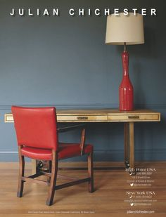 #hpmkt #hpmkt2015 #desk #homeoffice | Julian Chichester Home Office, Home Desk, Office Workspace, Julian Chichester, Mews House, Guest Room, Home And Garden, Dining Table, Workspaces