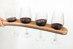 Wine glass holder on Etsy, $49.00