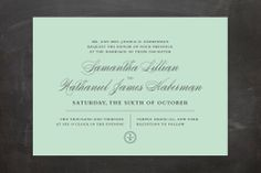 Notable Wedding Invitations by Wondercloud Design at minted.com