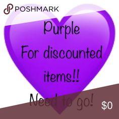 Purple gotta go!!!! Sale Other