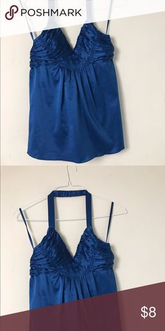 The Limited Blue Halter Top Bust-30 Length-24 The Limited Tops Blouses