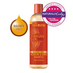 Argan Oil Moisture & Shine Shampoo  12 oz   Cleanser, Sulfate-Free Shampoo Product UPC: 075724251991 see all Creme of Nature products