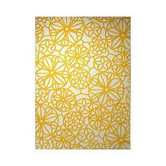 Esprit Society White / Yellow Contemporary Rectangular Rug