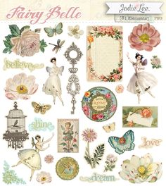 Vintage Labels, Vintage Cards, Vintage Images, Holly Hobbie, Decoupage, Scrapbook Paper, Scrapbooking, Scrapbook Supplies, Beautiful Fairies
