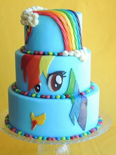 Rainbow Dash Cake My Little Pony And cakepins.com