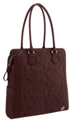 Vera Bradley North South Tote in Espresso :: I WANT THIS, it is on sale, & when I get paid I WILL BUY IT. end of story! :) [using it has a bag for my laptop bc it will match my mocha rouge lap top case cover well]