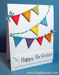 Lawnscaping Challenge #25 - #Birthday - Colorful Birthday Banners by Stephanie (Honorable Gnome)