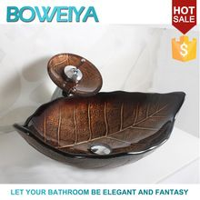 Sanitary Ware China Factory Manufacturer Glass Sink For <strong>Bathroom</strong> Set