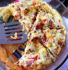Dica pra quando bate a fominha: faça omelete ao forno! Fica pronto em 30 minutinhos e ainda tem um sabor ótimo!! - Aprenda a preparar essa maravilhosa receita de Omelete ao forno
