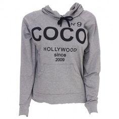 Moletom Inspired Coco Chanel Nº 9 - Cinza/Branco Moletons/Sueters