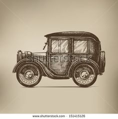 Vintage Car - stock vector