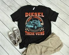 08c22aaec6 Fathers Day Truck Driver Shirt - Trucker T-Shirt - Diesel Shirt - Gifts for  Truckers - Trucker Gift