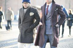 Pitti Uomo: Fall 2015. The texture of these suits and coats is beautiful for a rich, winter look.