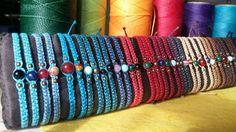 A handmade macrame bracelet with semi-precious by FilosofieShop