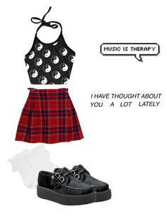 """""""Oh me"""" by vikyarmstrong ❤ liked on Polyvore featuring mode, O-Mighty, Hue en T.U.K."""