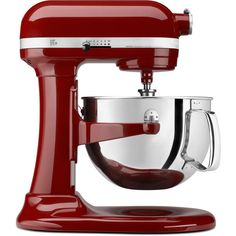 A kitchen staple in classic red, this Kitchenaid mixer will thrill the baker in the family.